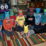 Scary masks made in Art class
