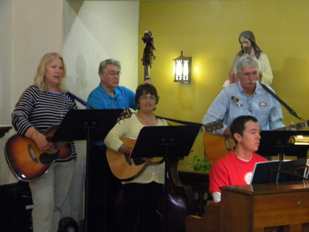 Special thanks to Nate Mathews , John and Judy Wolak, Janelle Thompson, and Pat held for bring beautiful mus to the Mass.