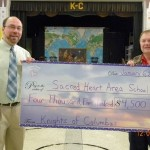 Knights of Columbus Donate $4,500 to Sacred Heart Area School