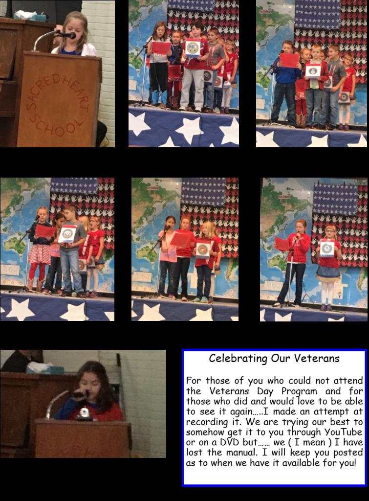 Sacred Heart Area School » 3rd Grade News