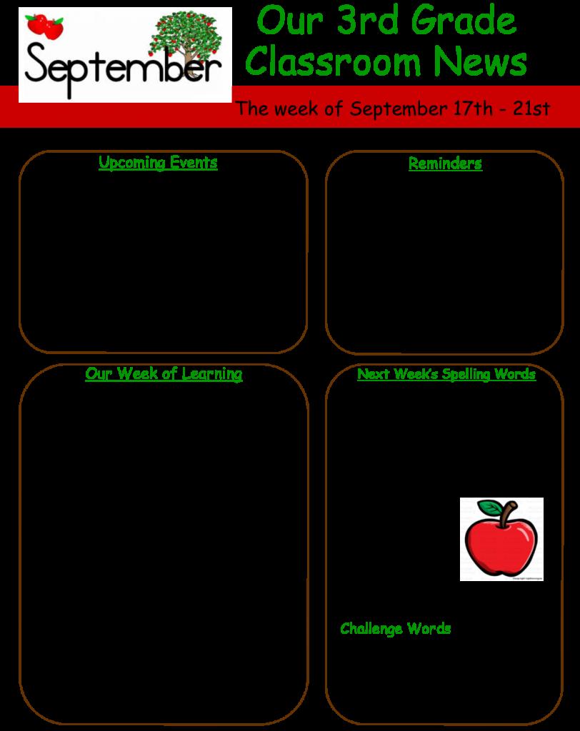 Sacred Heart Area School 3rd Grade News